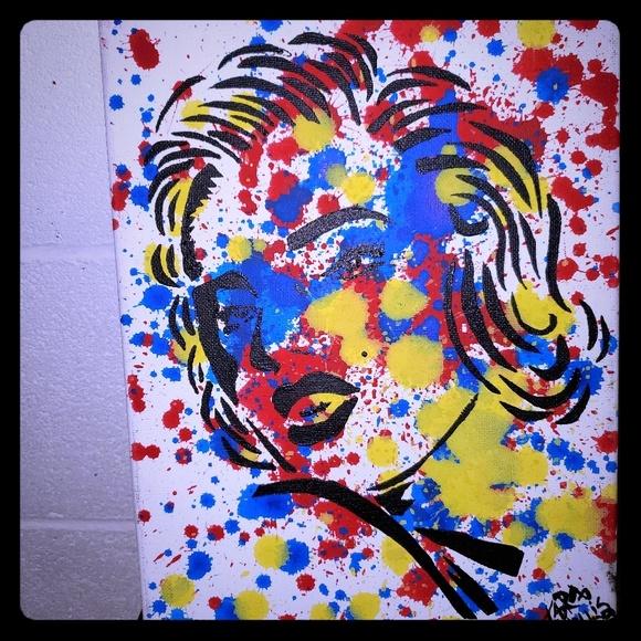 Wall Art Marilyn Monroe Graffiti Art Abstract Painting Poshmark